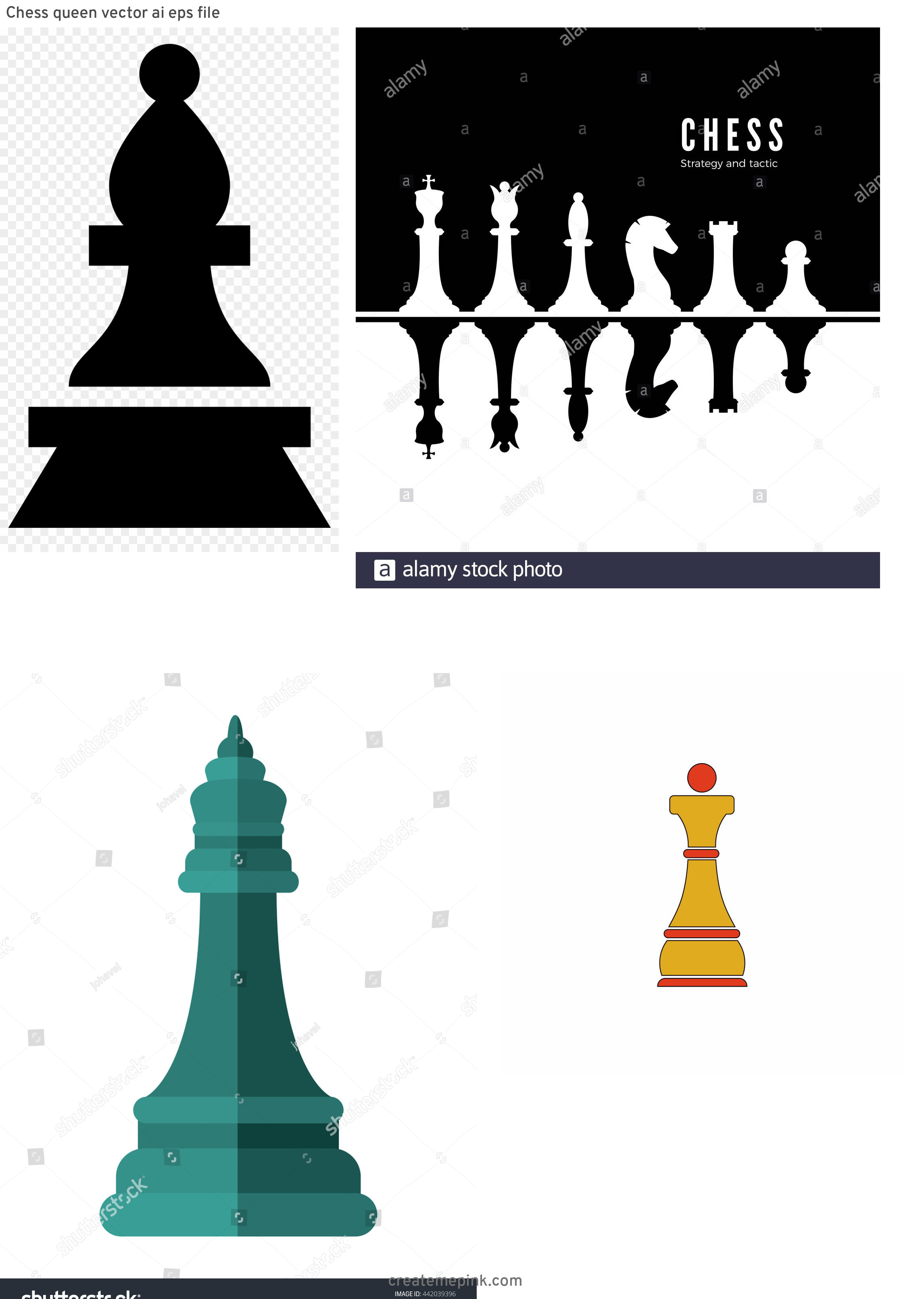 Chess Vector Graphic: Chess Queen Vector Ai Eps File