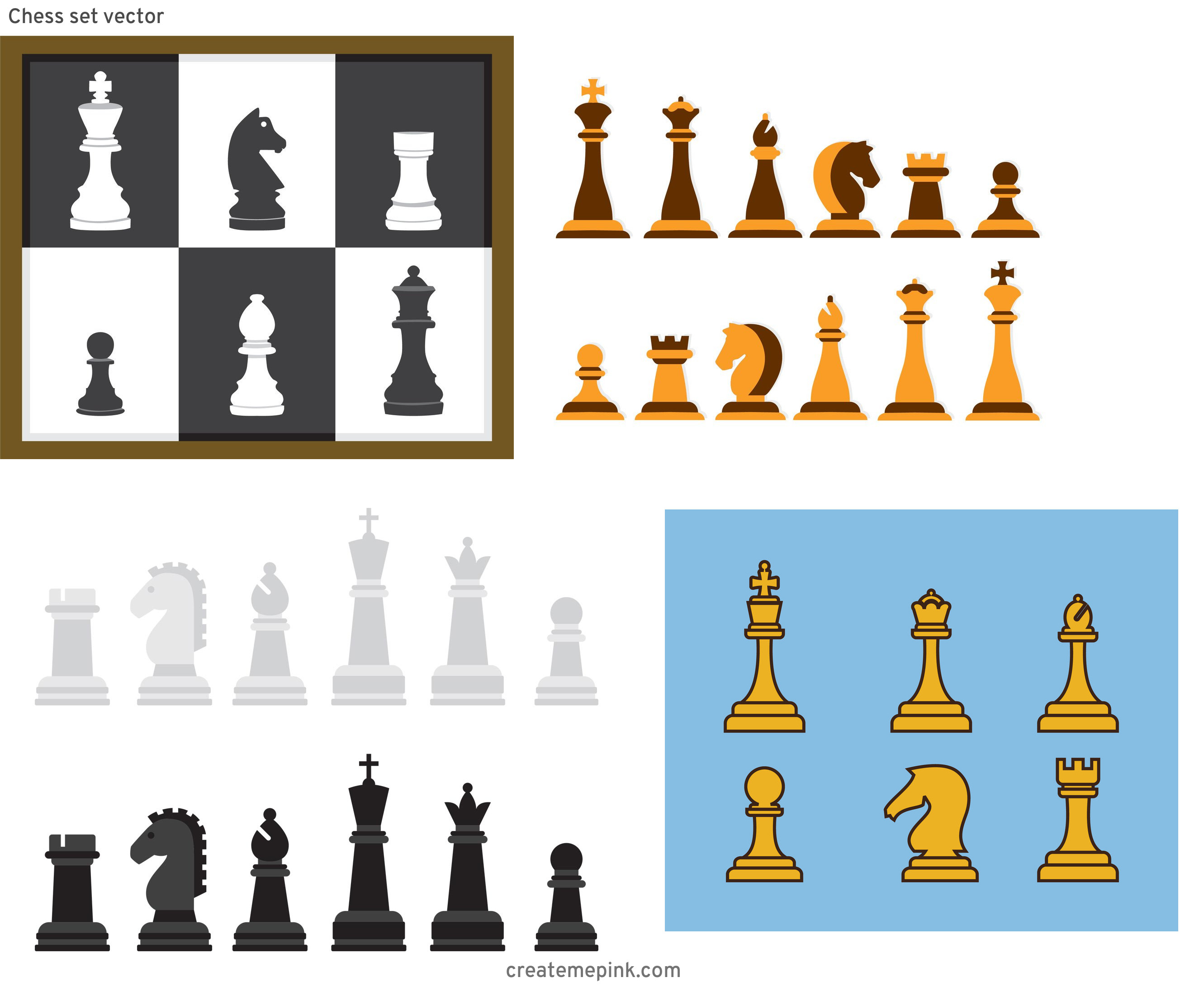 Chess Vector Graphic: Chess Set Vector