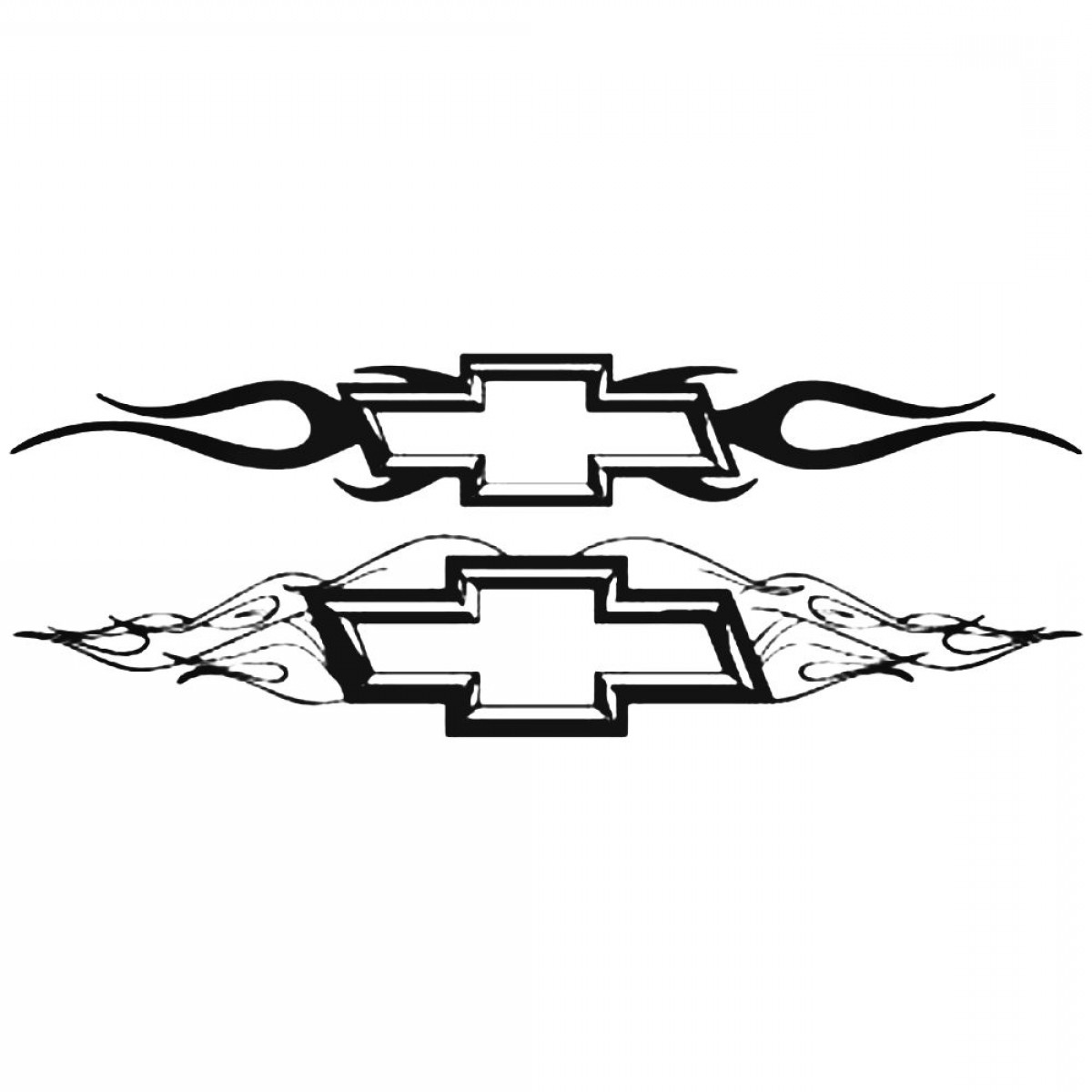 Chevy Logo Vector: Chevy Chisiled With Flames Logo Vector Aftermarket Decal Sticker