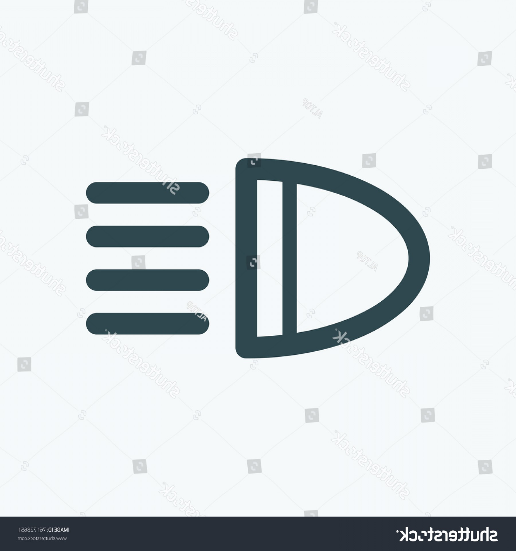 Headlight Vector Png: Chic Headlight Icon Car Light Vector