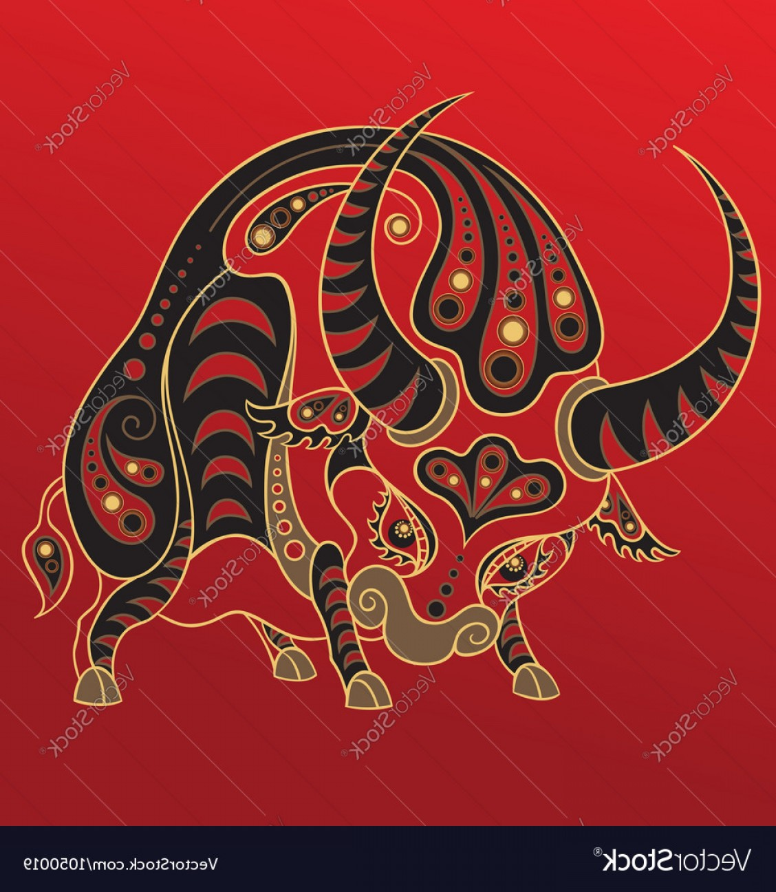 Vector Chinese Horoscope: Chinese Horoscope Year Of The Ox Vector