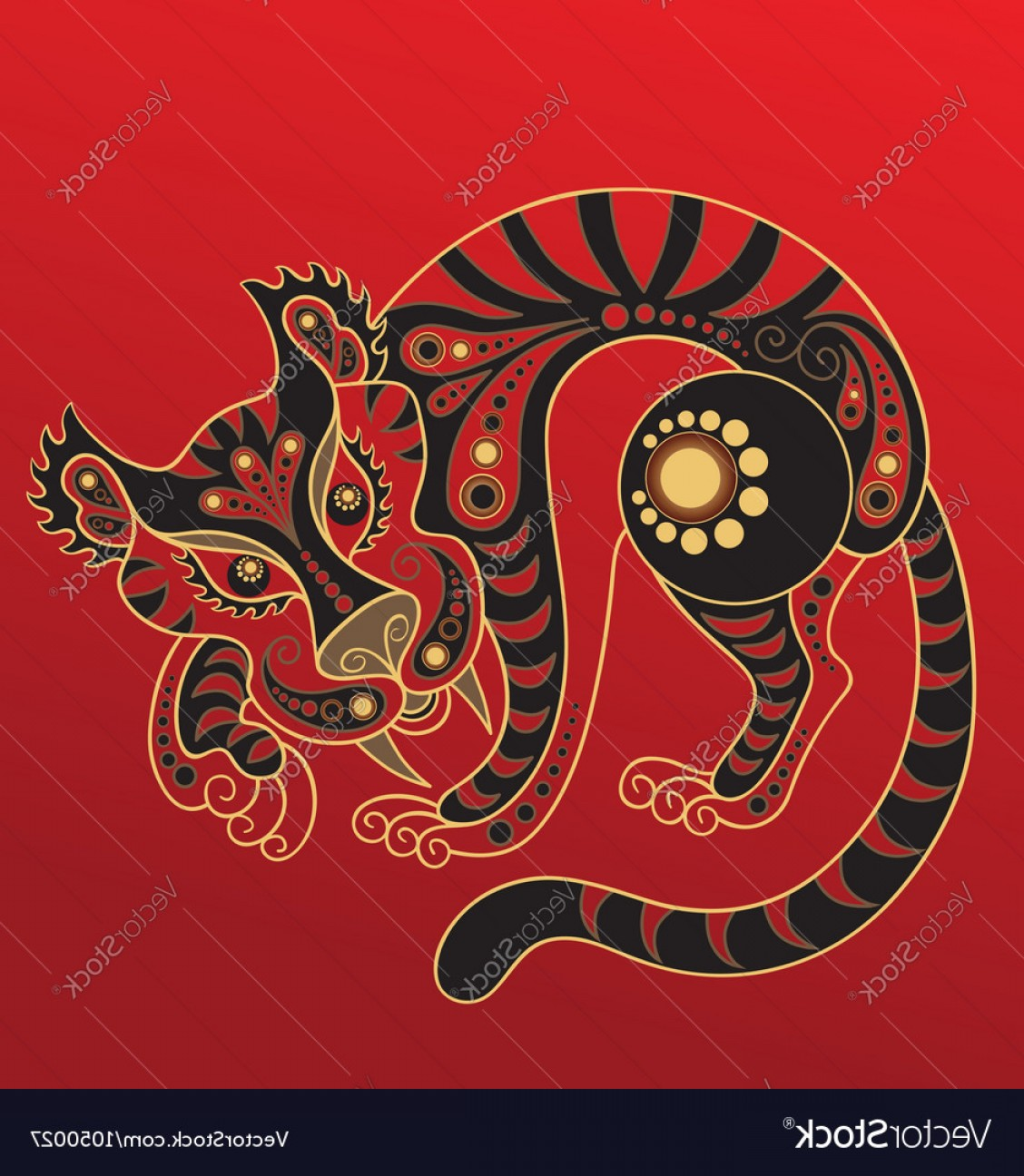 Vector Chinese Horoscope: Chinese Horoscope Year Of The Tiger Vector