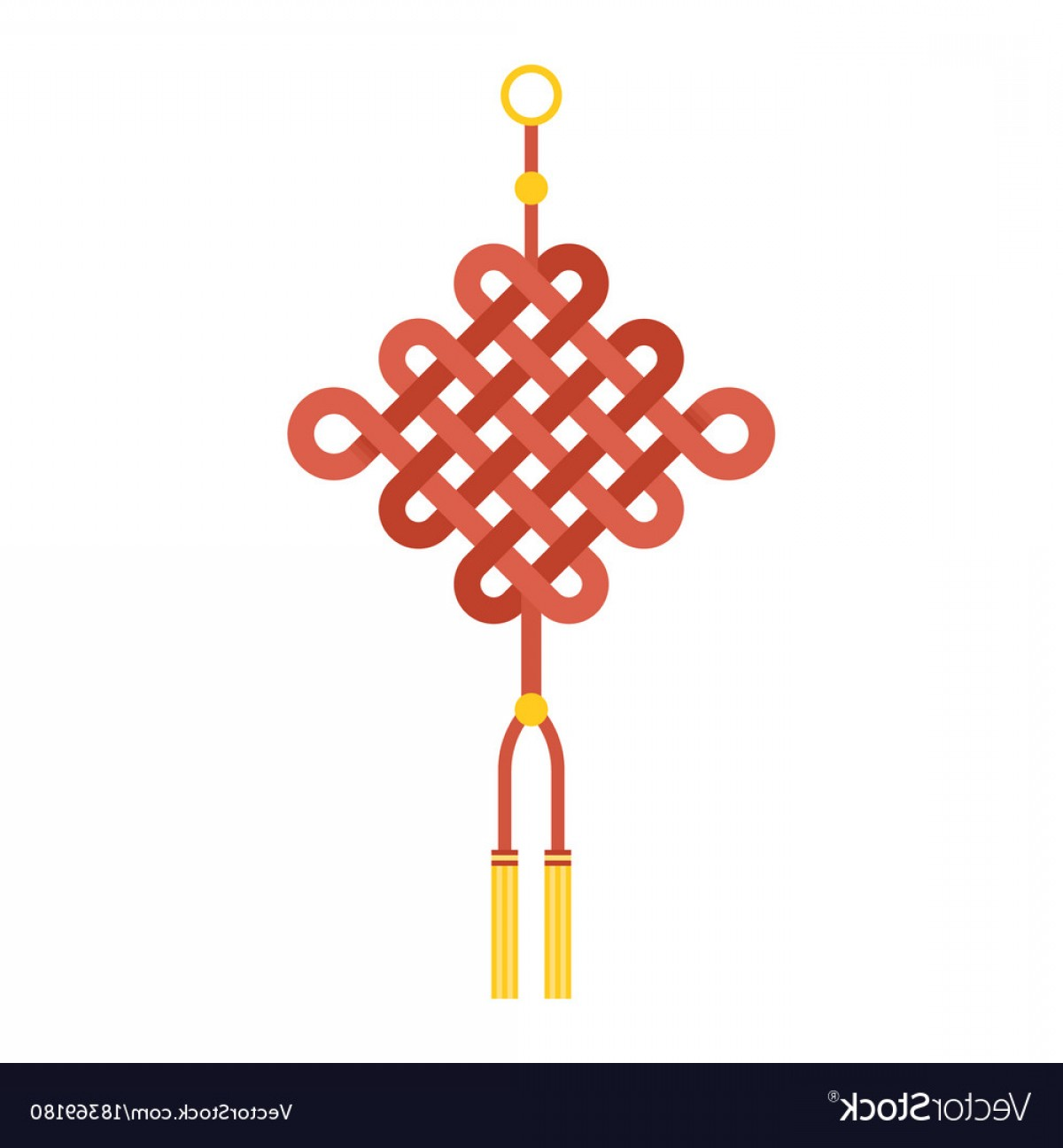 Tassel Vector: Chinese Knot With Tassel Using In Lunar New Year Vector