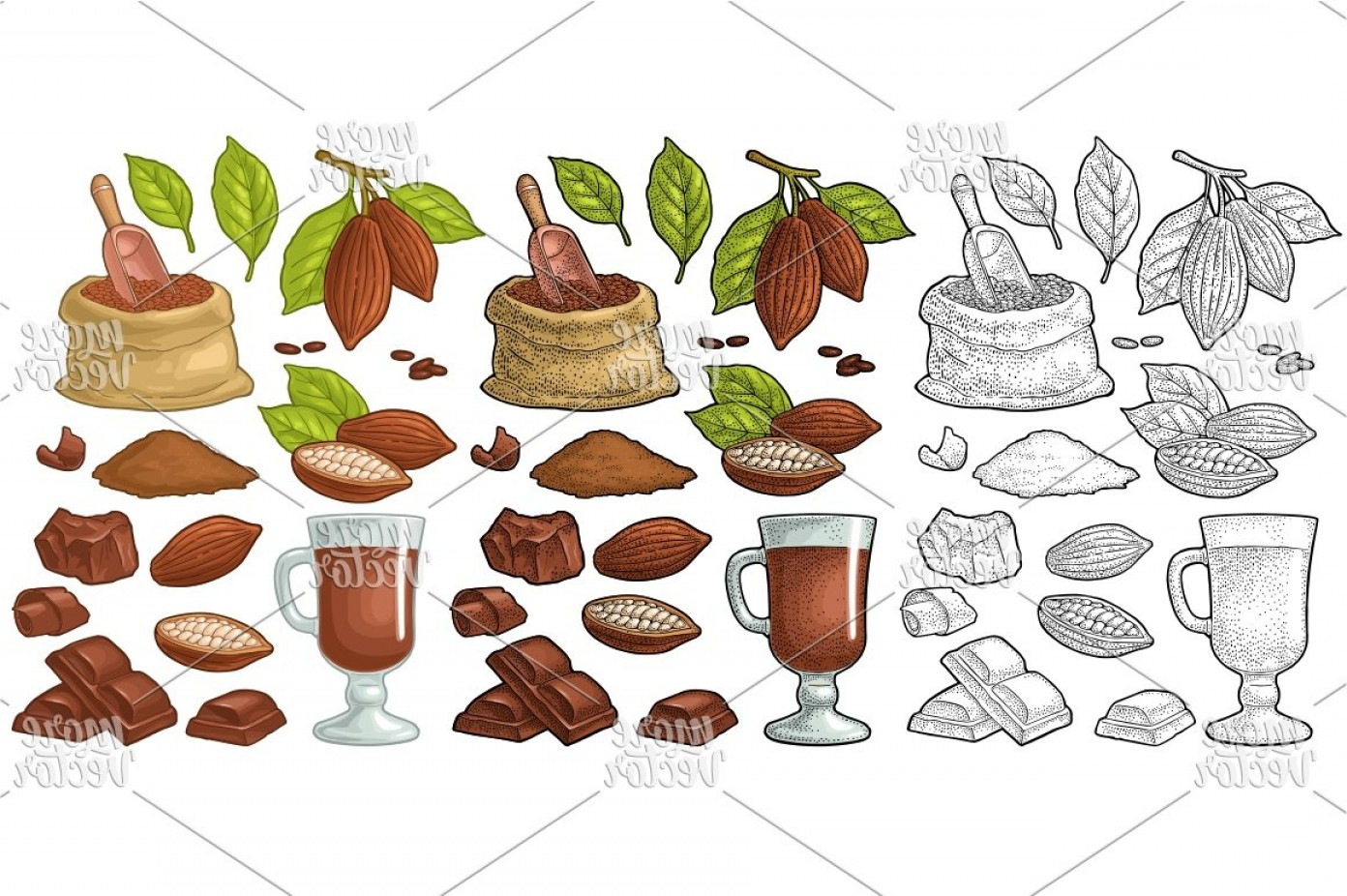 Chocolate Vector Plant: Chocolate Piece Bar And Shave