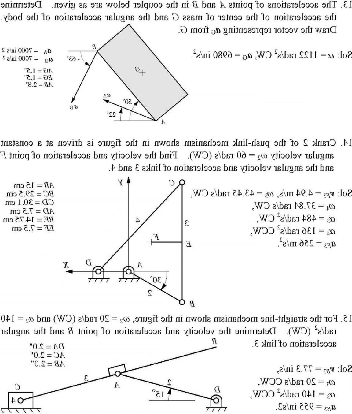 Finding The Acceleration Vector: Chosen Problems And Their Final Solutions Of Chap Waldron Par