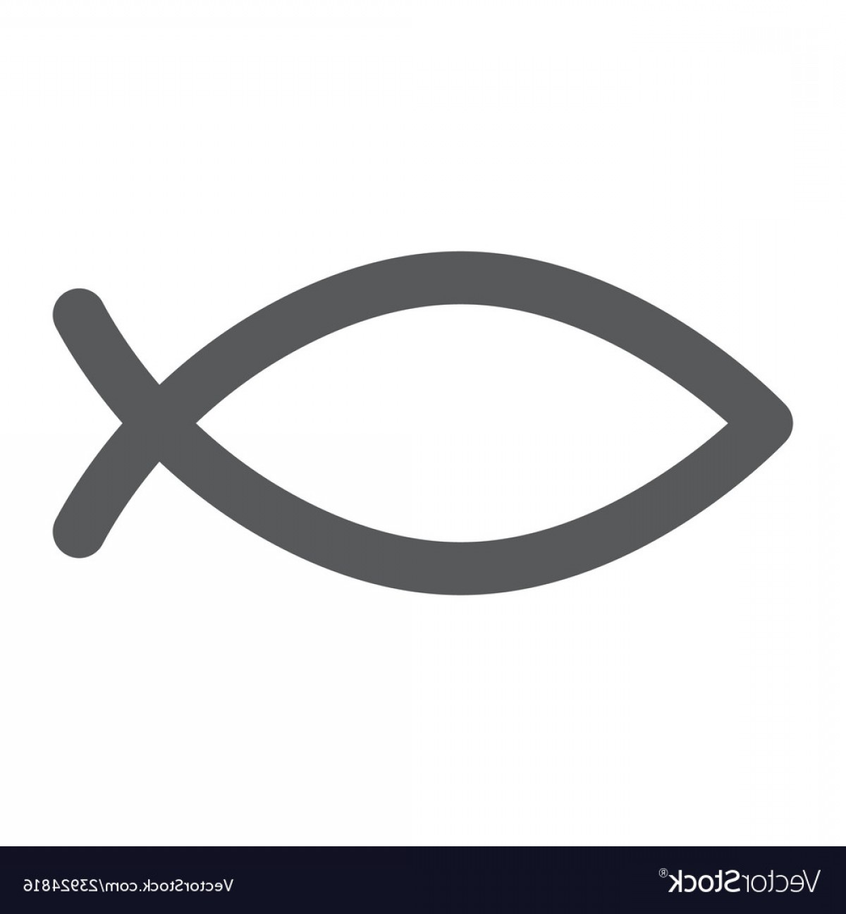 Christ Fish Vector: Christian Fish Glyph Icon Religious And Symbol Vector