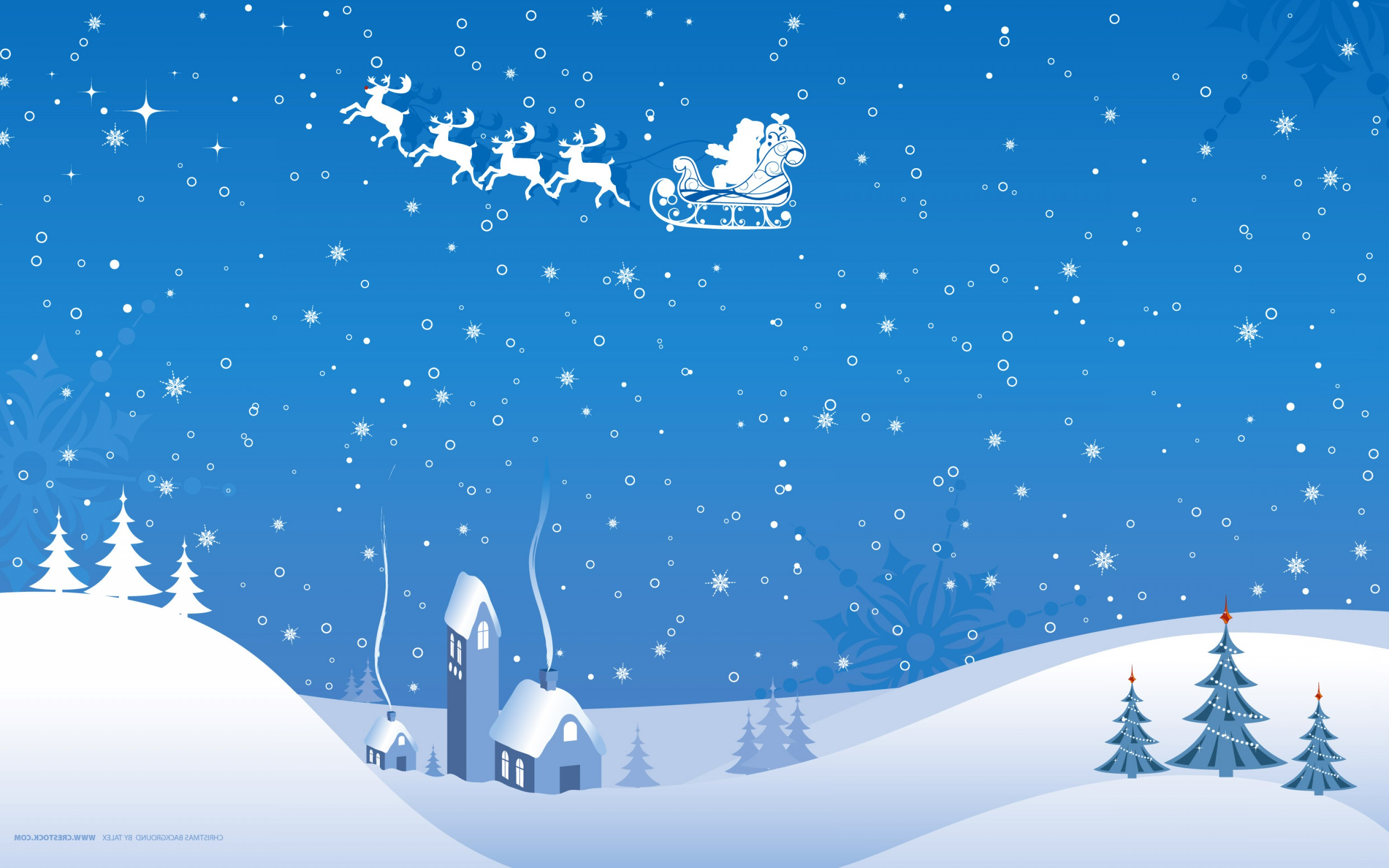 Free Winter Vector: Christmas Blue Night In Winter Time
