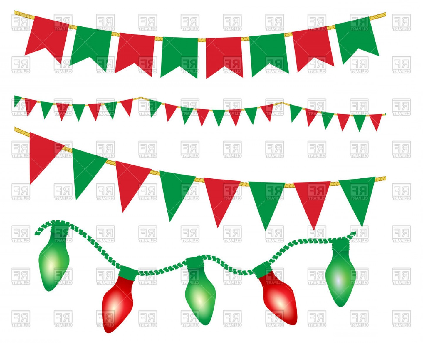 christmas lights ans party buntings vector clipart createmepink rh createmepink com vector christmas lights png transparent vector christmas lights