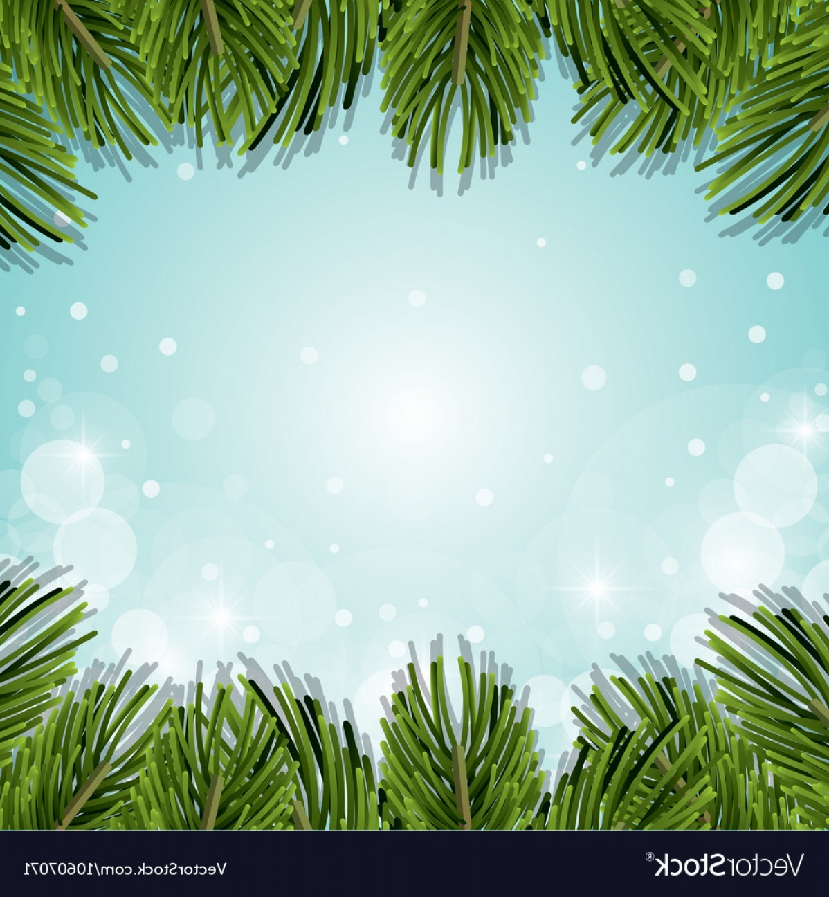 Pine Leaves Vector: Christmas Pine Leaves Decoration Background Vector