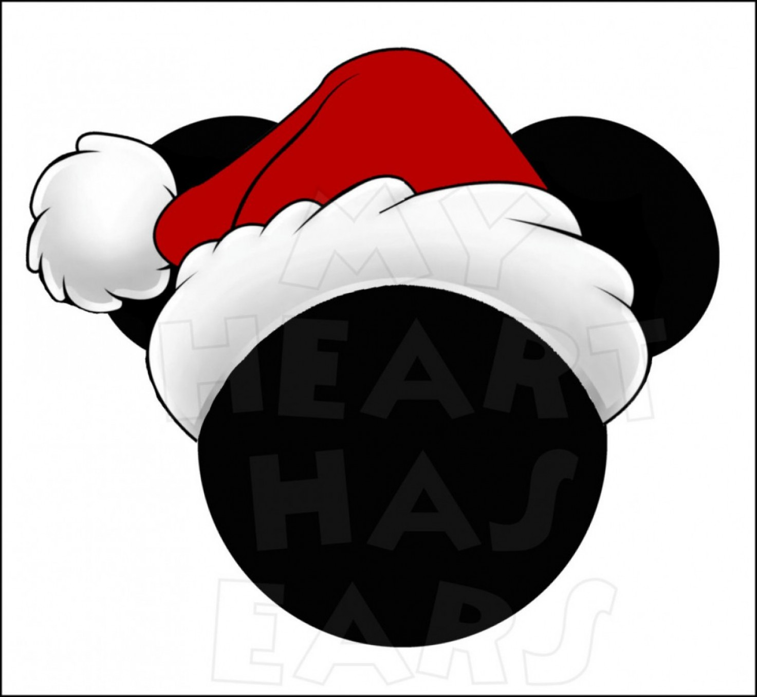 Vector Mickey Mouse Christmas: Christmas Santa Minnie Mouse Wearing Hat Clipart