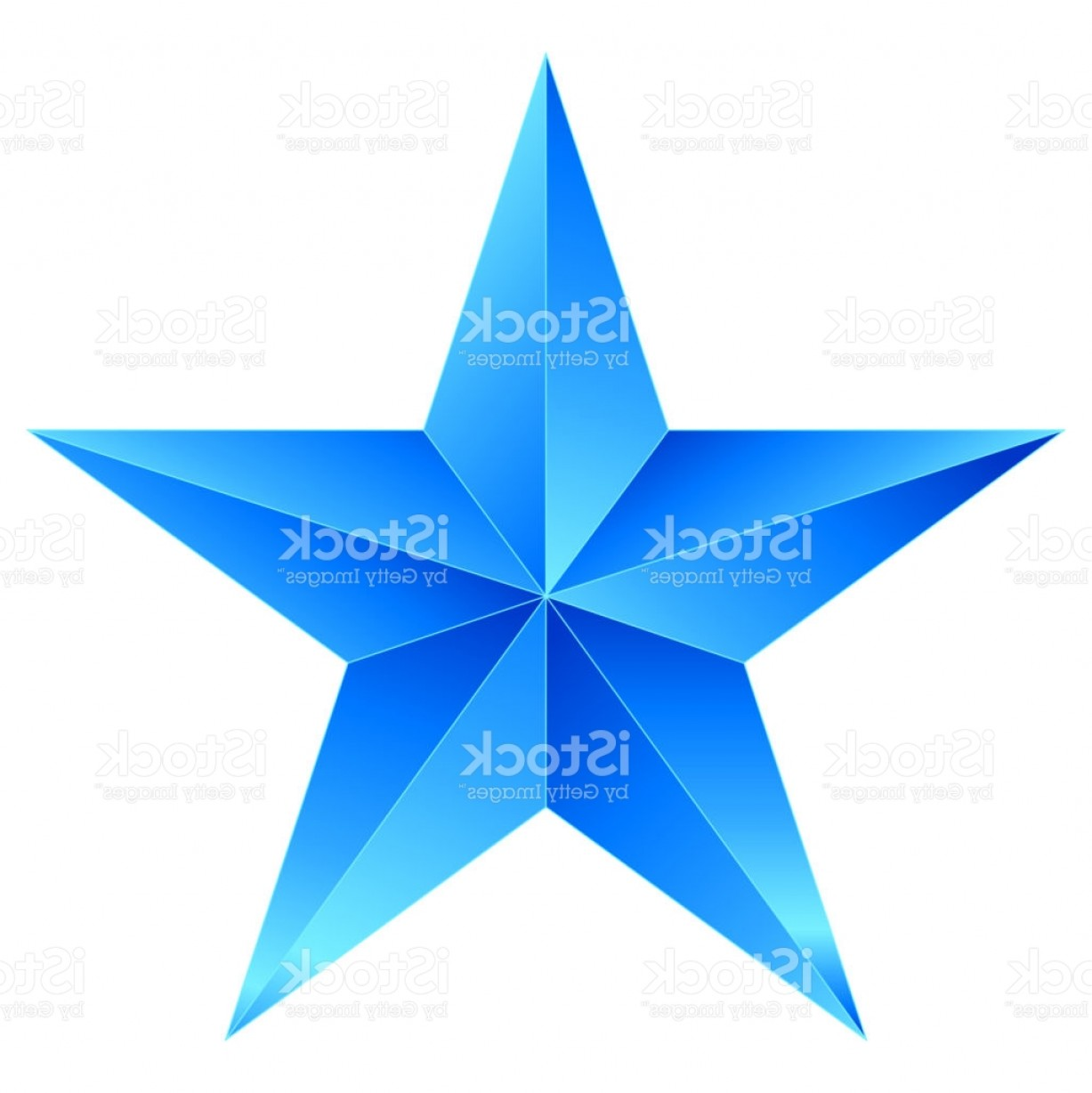 5 Point Star Vector Art: Christmas Star Blue Point Star Isolated On White Gm
