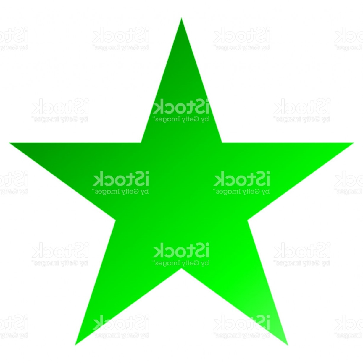 5 Point Star Vector Art: Christmas Star Green Simple Point Star Isolated On White Gm