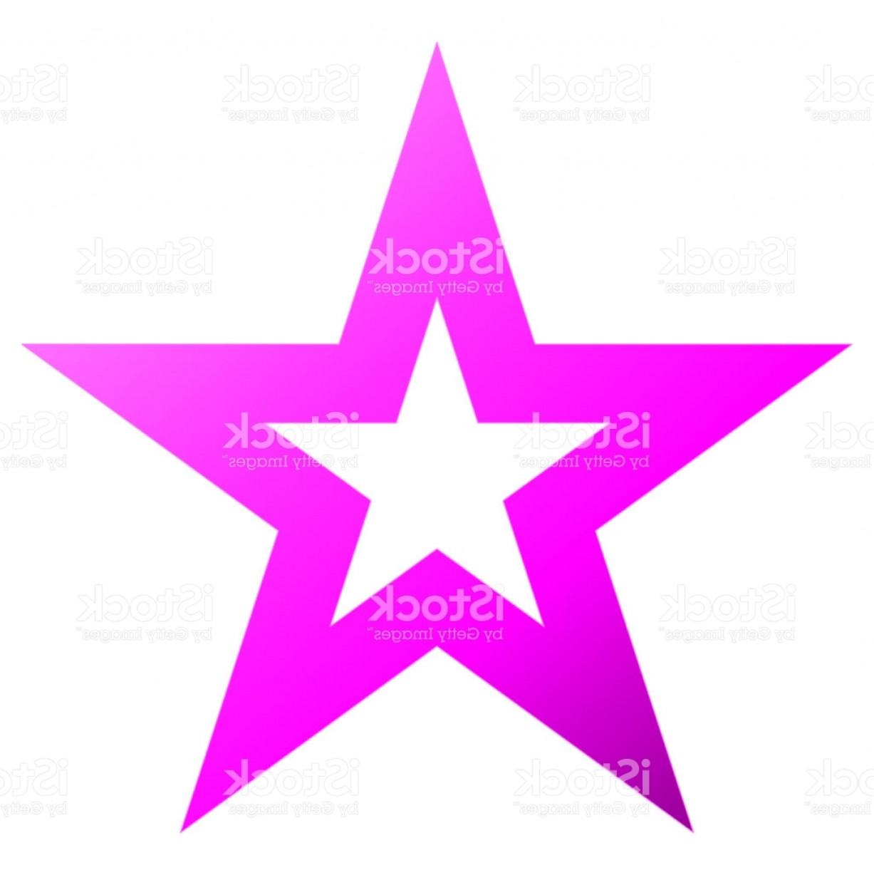 5 Point Star Vector Art: Christmas Star Purple Outlined Point Star Isolated On White Gm