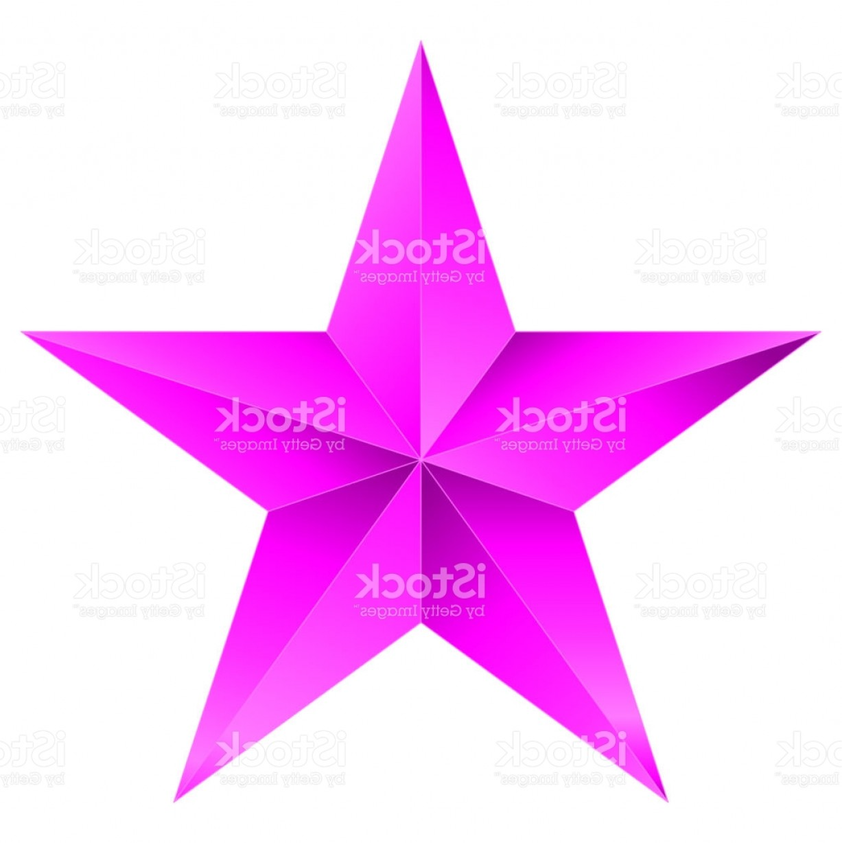 5 Point Star Vector Art: Christmas Star Purple Point Star Isolated On White Gm