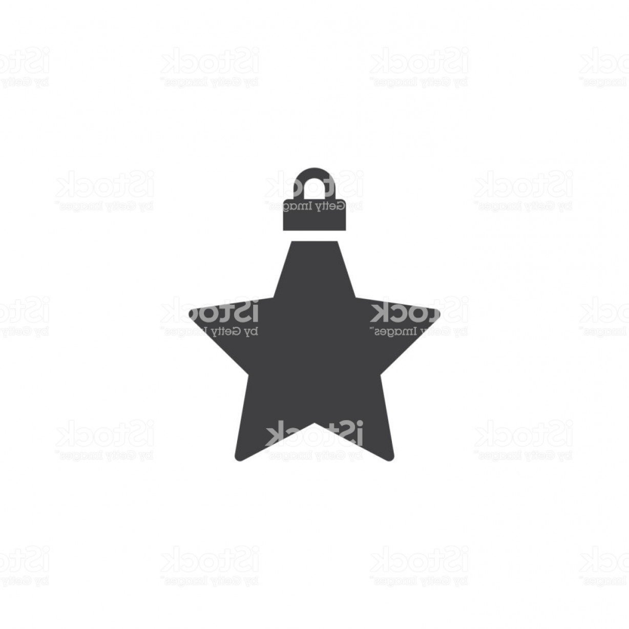Vector X-15 Art: Christmas Star Vector Icon Gm