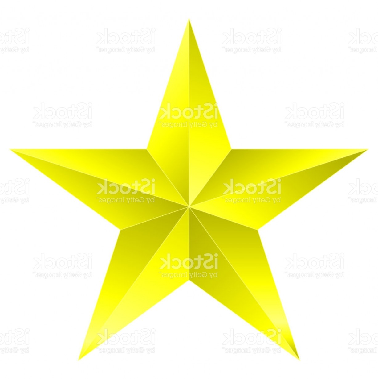5 Point Star Vector Art: Christmas Star Yellow Point Star Isolated On White Gm