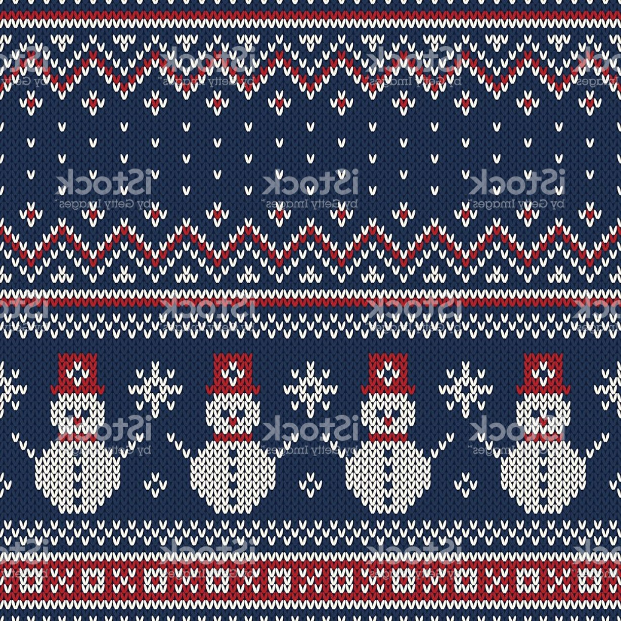 Christmas Sweater Design Vector: Christmas Sweater Design Seamless Knitted Pattern Gm