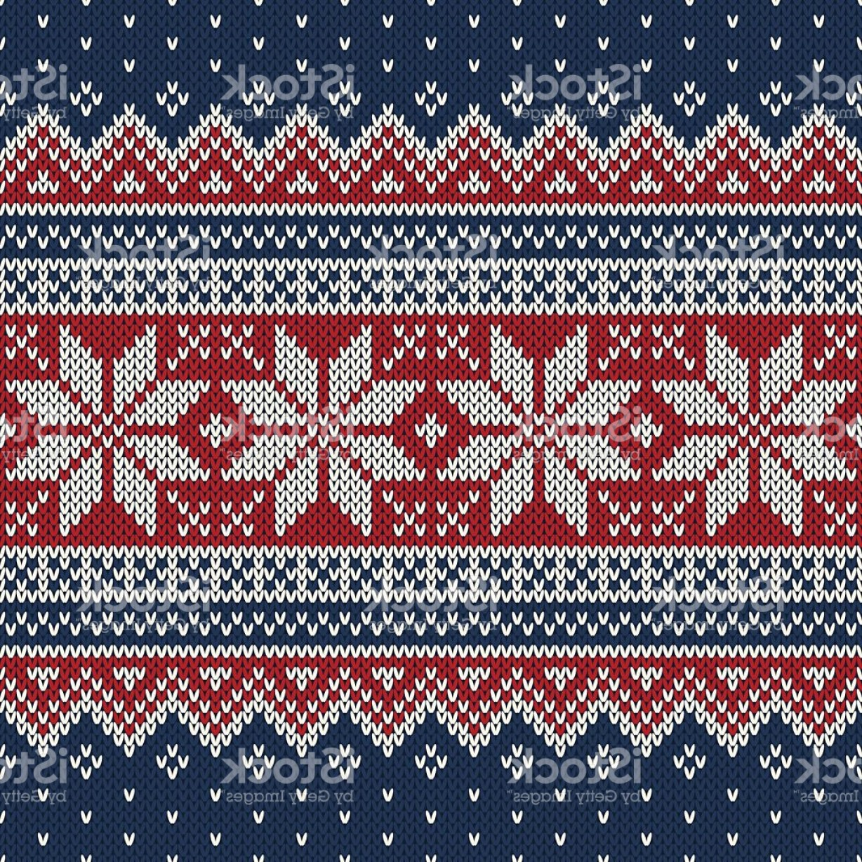Christmas Sweater Design Vector: Christmas Sweater Design Seamless Knitting Pattern Gm