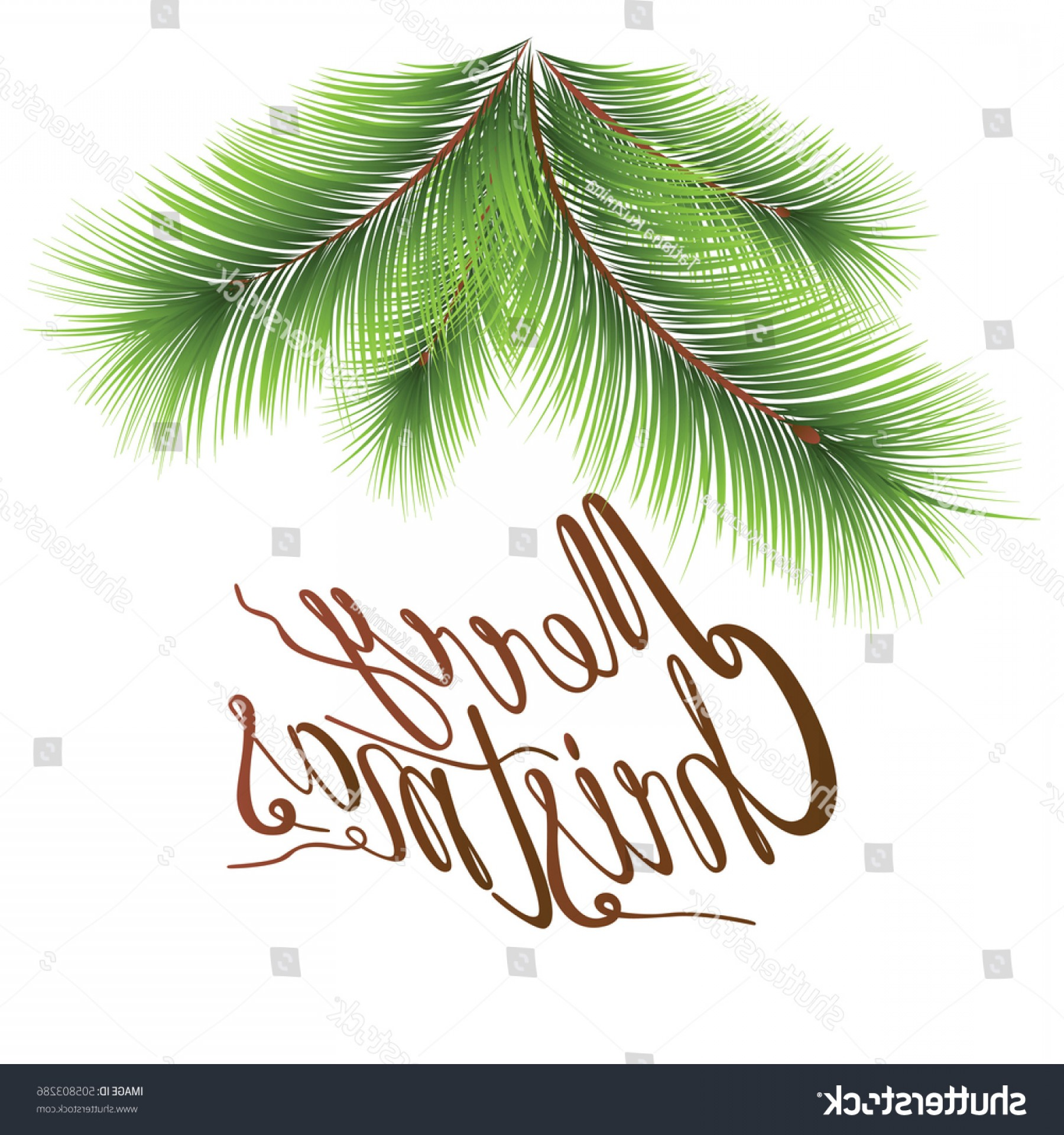 Christmas Vector Sayingd: Christmas Tree Branches Image Lettering Design