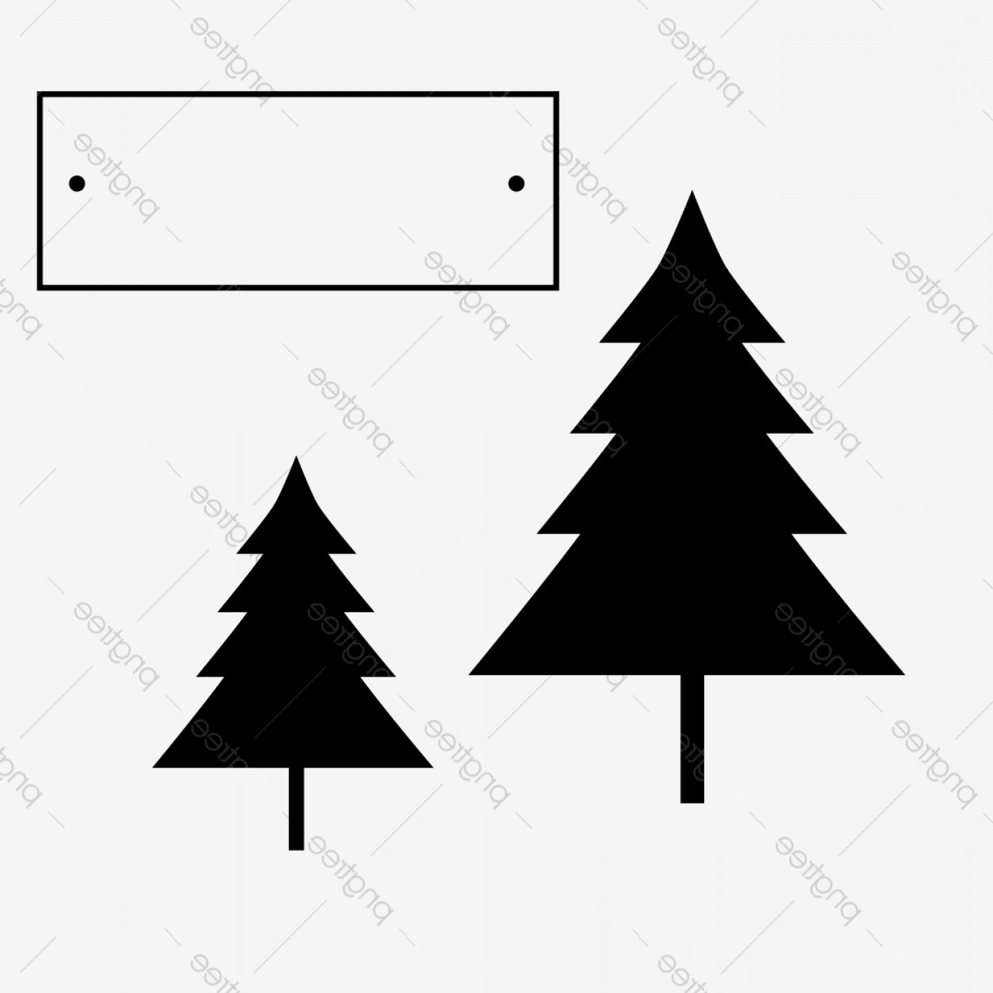 Christmas Pine Tree Vector Art: Christmas Tree Clipart Png Vector Element