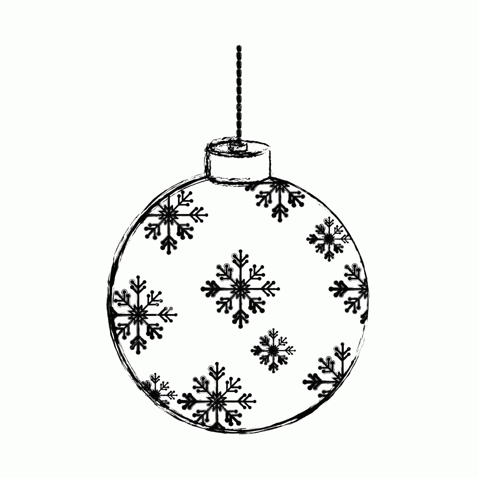 Black And White Christmas Ornament Vector Art: Christmas Tree Ornaments Clipart Black And White