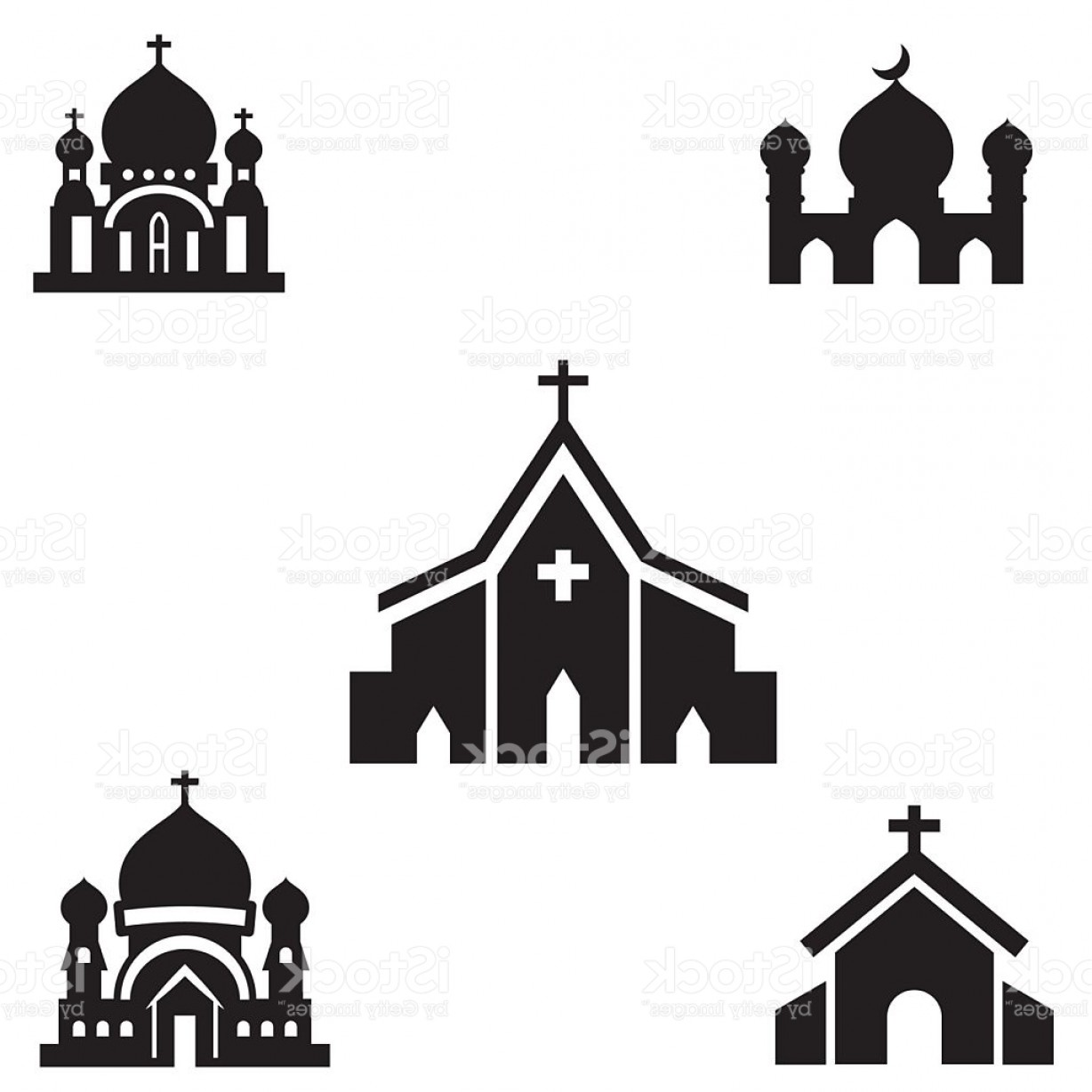 Church Silhouette Vector: Church Silhouette Isolated Vector Gm