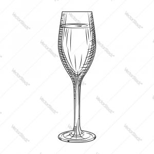 Black And White Champagne Vector: Champagne Bottle Pop Open Cork Sparkles Elegant Black White Logo Icon Vector Illustration Image