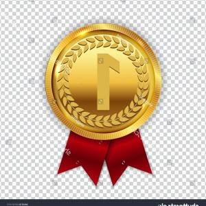 Champion Vector Art: Champion Art Golden Medal Red Ribbon