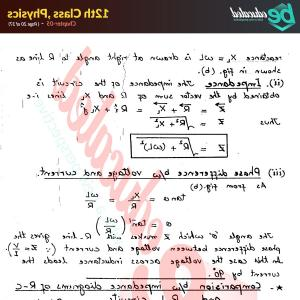 Reactance Vector Diagrams: Chapter Physics Fsc Part Notes Inter Part Notes