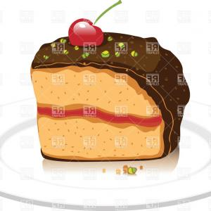 Chocolate Clip Art Vector: Cherry Chocolate Cake Vector Clipart