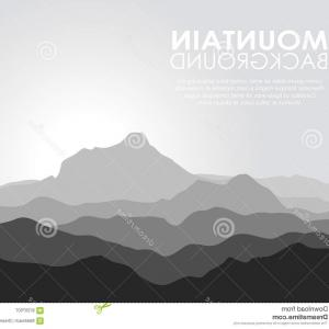 Mountain Range Silhouette Vector Free: Catchy Photostock Vector Isolated Black Silhouettes Of Mountains On White Vector Illustration