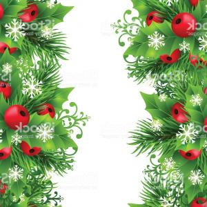 Free Vector Christmas Banners: Christmas Background With Fir And Holly Decorations Gm