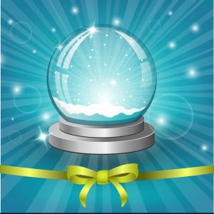 Snow Globe Backgrounds Vector: Christmas Background With Snow Globe Vector