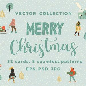 Christmas Vector Graphics Art: Christmas Garland Clipart Vector