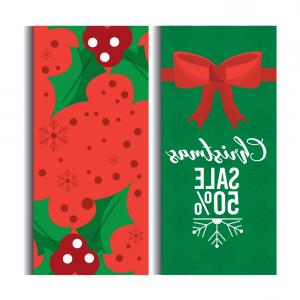 Christmas Horizontal Vector: Christmas Sale Discount Season Offer Horizontal Vector