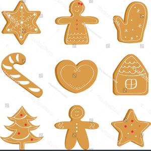 Vector Bread And Cookies: Christmas Set Ginger Bread Holiday Cookie