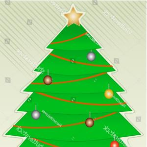 Less Christmas Tree Abstract Vector Background: Hand Drawn Christmas Tree Star Painted
