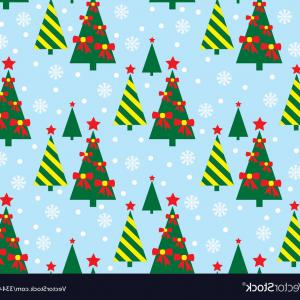 Christmas Tree Pattern Vector: Abstract Christmas Tree Pattern Vector