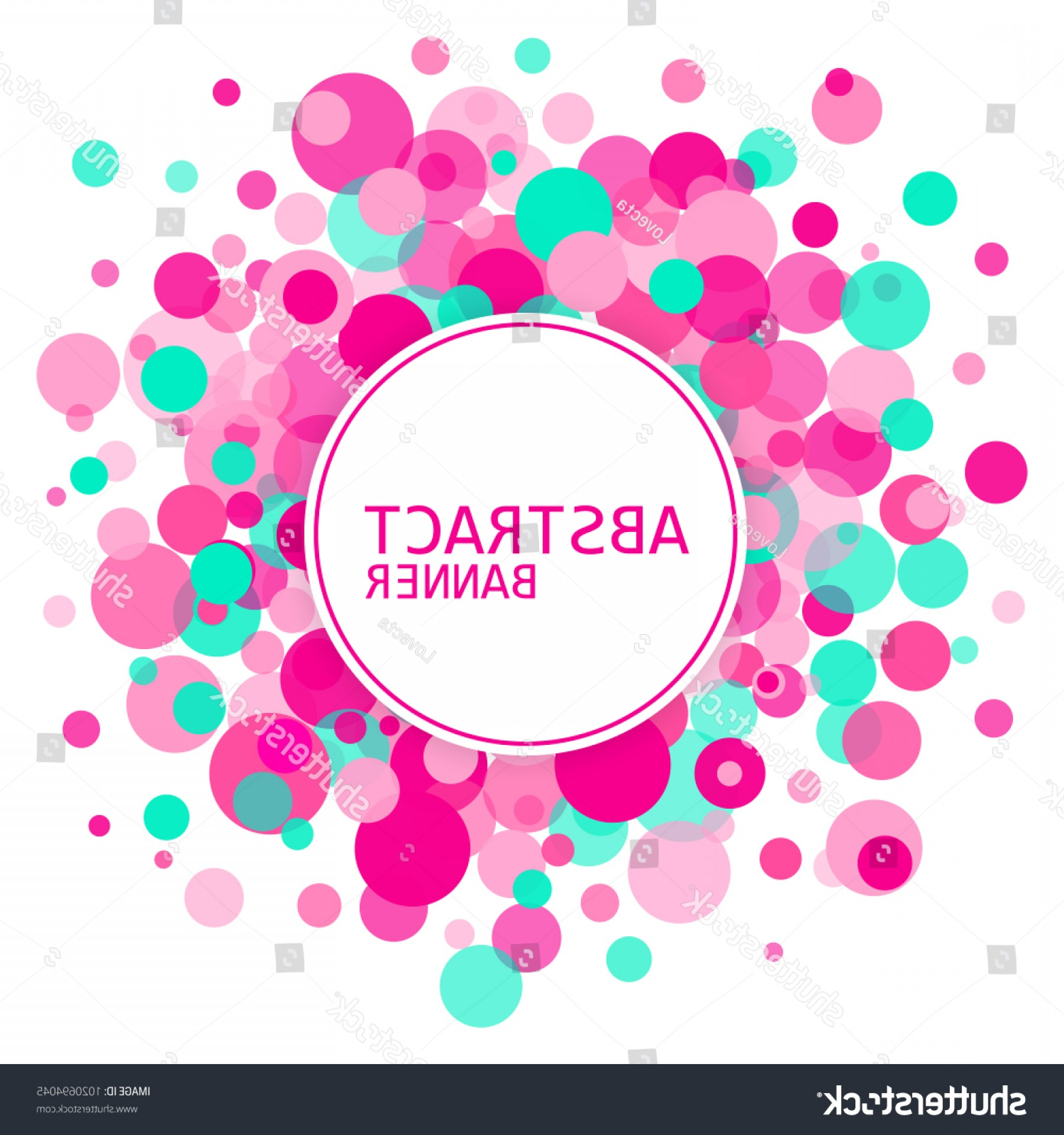 Vector Bubbles Circle: Circle Background Vector Bubbles Abstract Banner