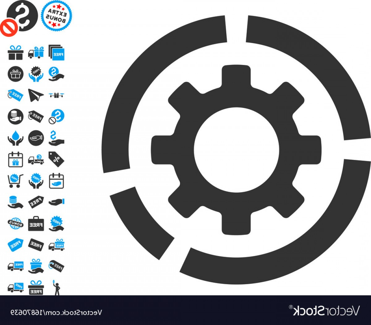 Vector Configuration: Circle Diagram Configuration Gear Icon With Free Vector
