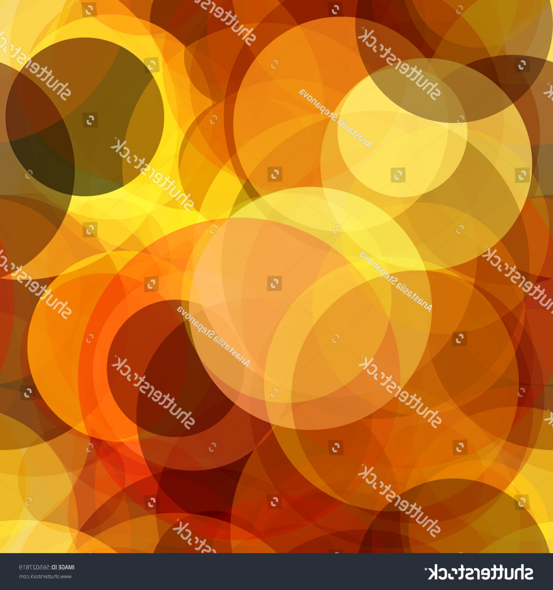 Transparent Brown Vector Background: Circles Background Yellow Brown Orange Colors