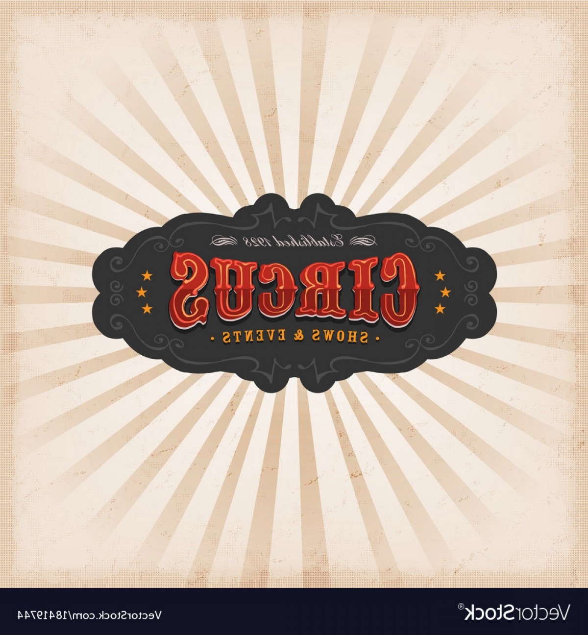 Circus Background Vector: Circus Background With Texture Vector
