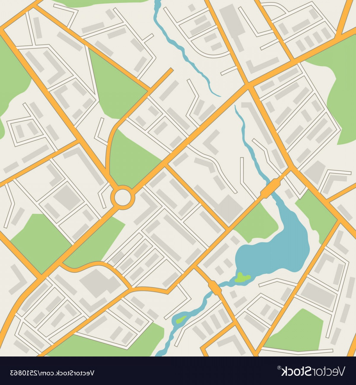 BG Vector Map: City Map Abstract Seamless Pattern Background Vector