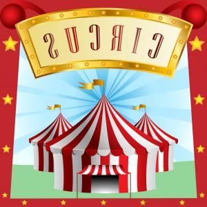 Circus Background Vector: Circus Background With Tent Vector