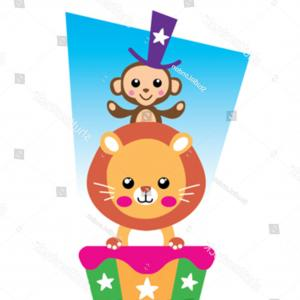 Artwork Vector T-Shirt Circus Theme: Circus Tshirt Graphics Cute Cartoon Characters