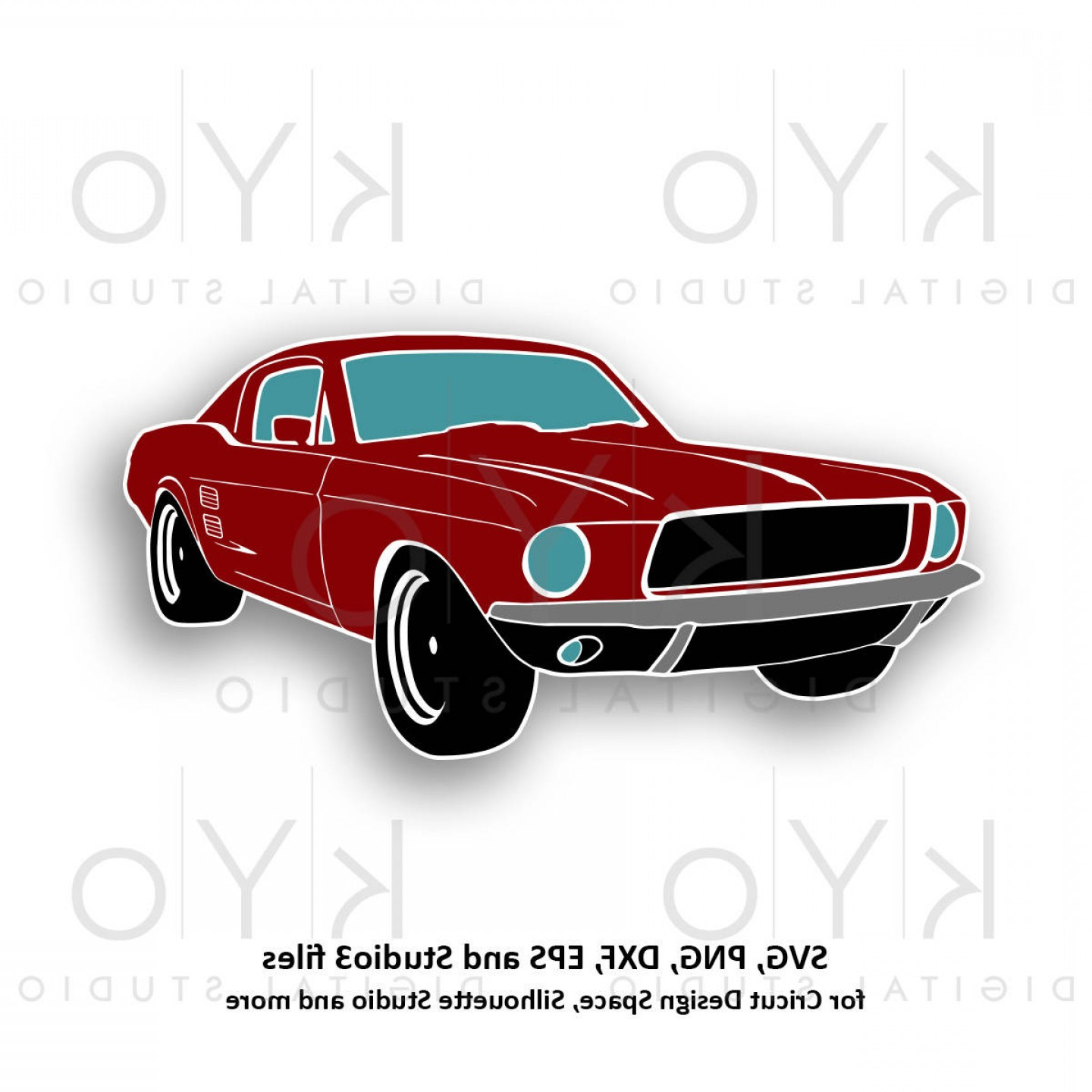 Camaro Vector Art Silhouette: Classic Ford Mustang Svg Png Mustang Car