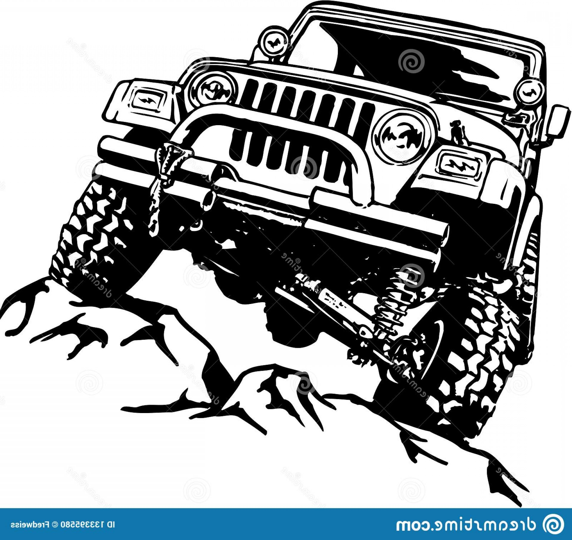 Vector Clip Art Of Jeep: Classic Jeep Illustration Vector Illustration Classic Jeep Image