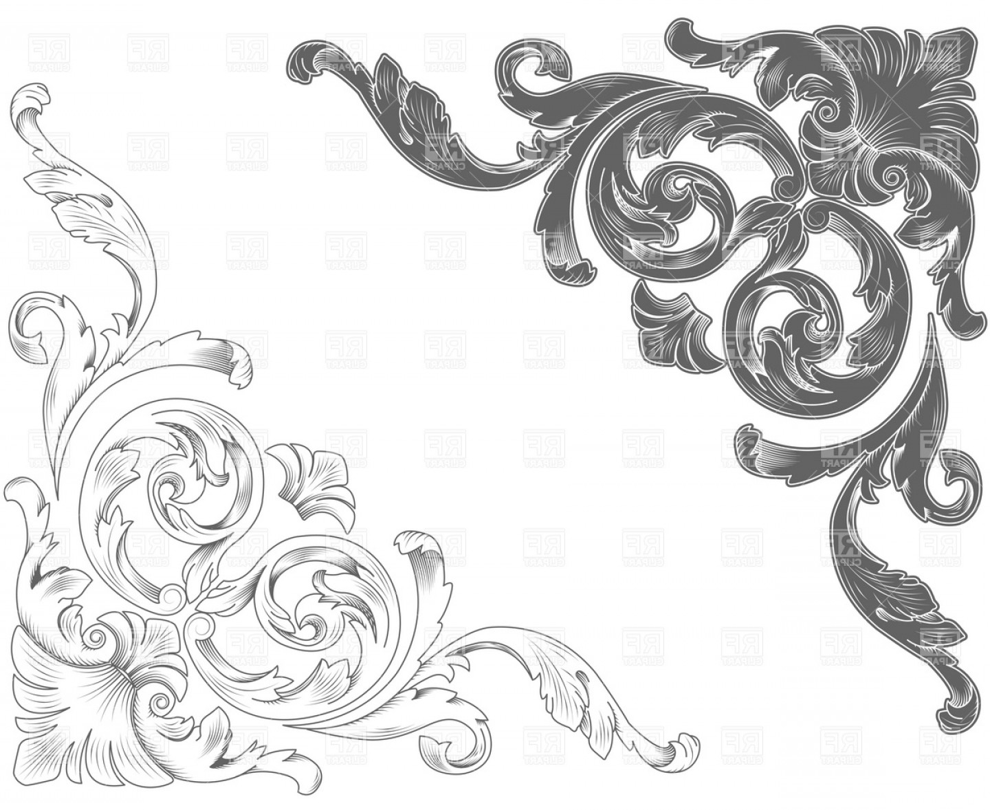 Free EPS Vector Art: Classic Ornamental Corners Vector Clipart