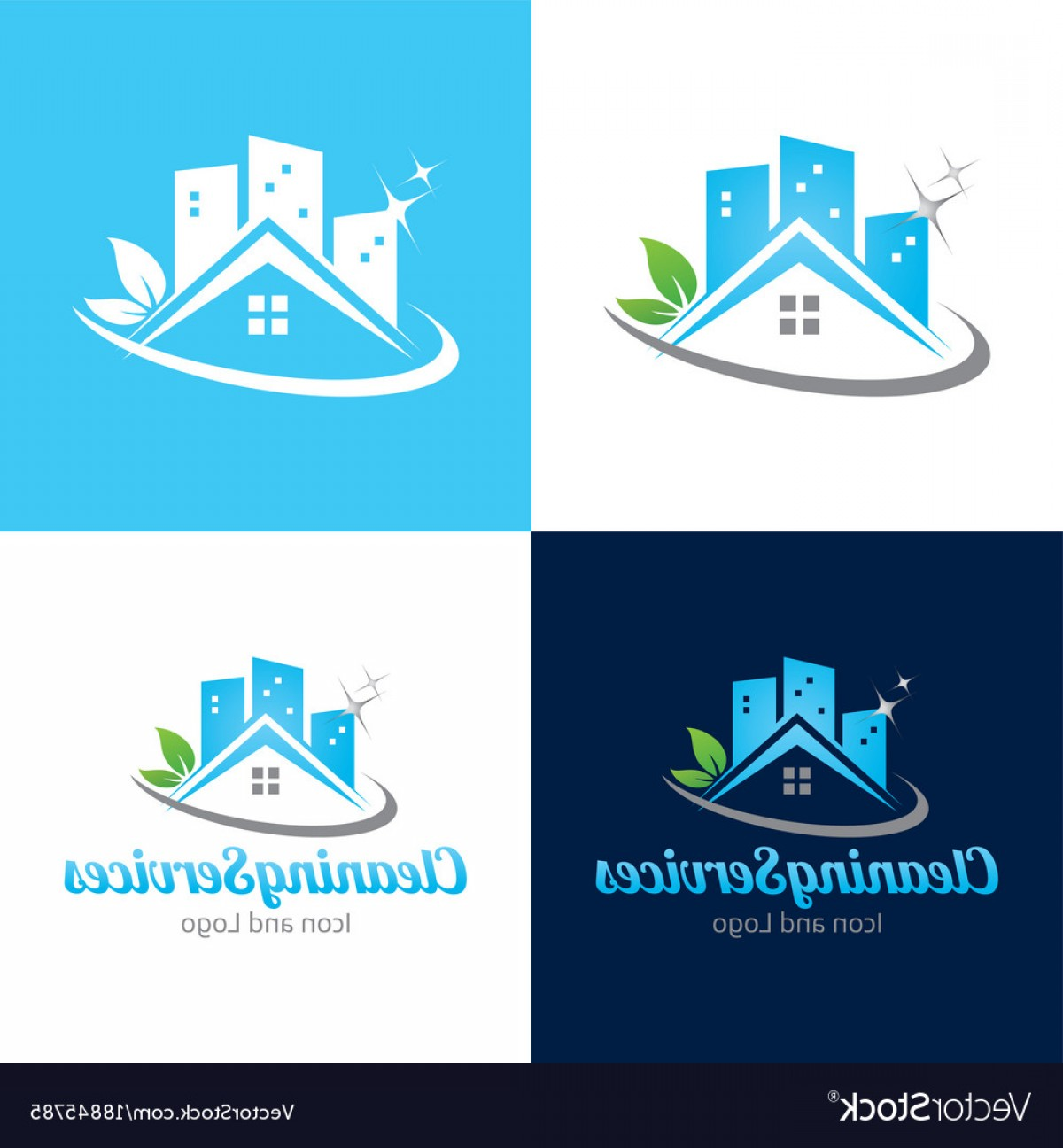 Cleaning Logo Vector Art: Cleaning Services Icon And Logo Vector