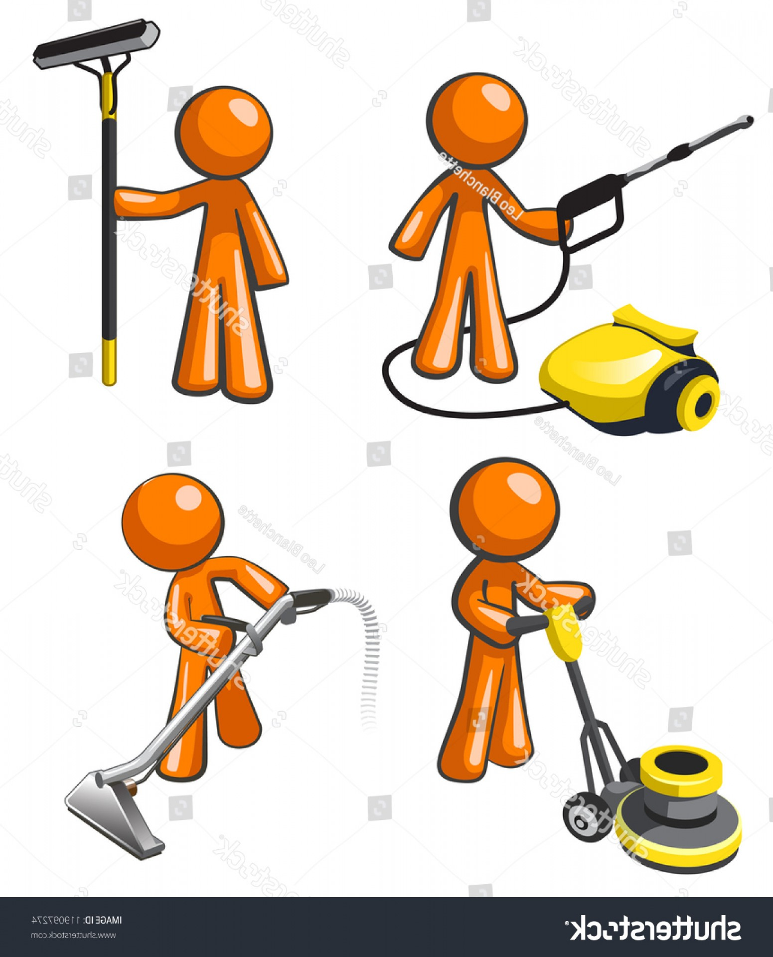 Cleaning Vector Janitorail: Cleaning Services Set Illustrations Janitorial Professionals